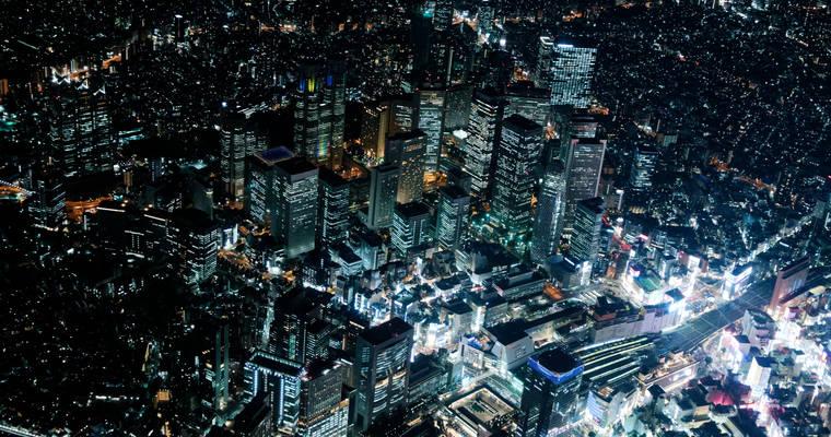 Tōkyō by night